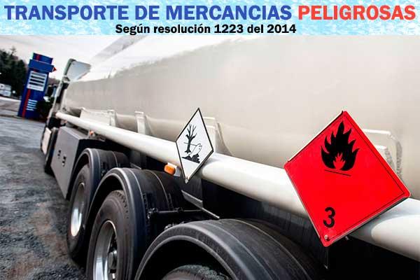 Transporte De Mercancías Peligrosas Resolución 1223 del 2014